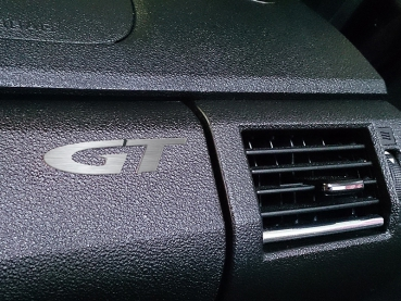 Opel GT logo 60 mm, brushed